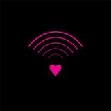 Logo och symbol av förälskelsesignaldesignen Royaltyfri Fotografi