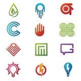 Logo- och symbolsvektor Arkivbilder