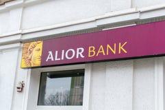 Logo och tecken av den Alior banken i Gdansk Royaltyfri Fotografi