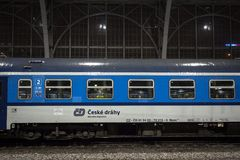 Free Logo Of Ceske Drahy On One Of Their Passenger Car In Prague Hlavni Nadrazi Train Station. Royalty Free Stock Images - 168412949
