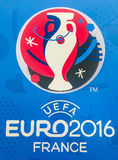 Logo officiel du championnat 2016 européen de l'UEFA dans les Frances Image libre de droits