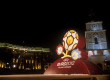 Logo officiel pour l'EURO 2012 de l'UEFA Images stock