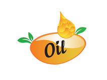 Logo Oil food. Water drop symbol logo icon. May be used in ecological, medical, chemical, food and oil design Stock Image