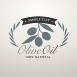 Logo olive oil. Vintage style logo olive oil Stock Image