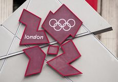 logo olympic london för 2012 lekar Royaltyfri Fotografi