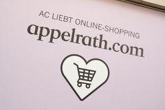 Logo online del deposito di Appelrath Immagini Stock Libere da Diritti