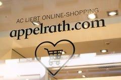 Logo online del deposito di Appelrath Fotografie Stock