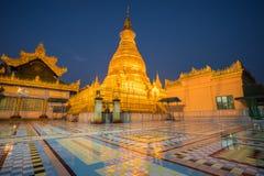 Logo Oo Ponya Shin Pagoda, Sagaing, Mandalay, Myanmar imagem de stock royalty free