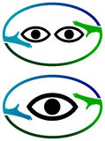 Logo optique Photos libres de droits