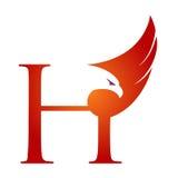 Logo orange de Hawk Initial H de vecteur Image libre de droits