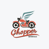 Logo orange de moto de couperet Photographie stock