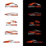 Logo orange gris de voiture à l'arrière-plan noir et blanc Image libre de droits