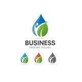 Logo organico di nutrizione e di dieta dell'alimento salutare illustrazione vettoriale