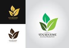 Logo organico di progettazione della foglia illustrazione vettoriale