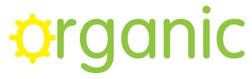Logo organico nel verde e nel giallo Fotografia Stock Libera da Diritti