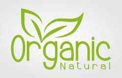 Logo organicznie naturalna biznesowa firma zdjęcie stock