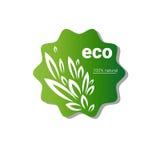 Logo organique écologique d'icône de Web de produit naturel illustration libre de droits