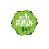 Logo organique écologique de vert d'icône de Web de produit naturel illustration stock