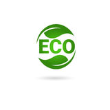 Logo organique écologique de vert d'icône de Web de produit naturel Image stock