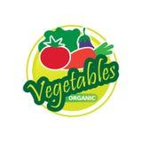 Logo organique de légumes illustration stock