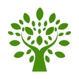 Logo organique Logo disponible de feuilles Logo de produits naturels Cosmeti illustration libre de droits