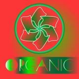 Logo organique Illustration de vecteur de résumé Photo stock