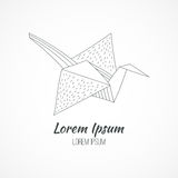 Logo origami Royalty Free Stock Photos