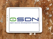 Osdn collaborative development environment logo. Logo of osdn on samsung tablet. is a web-based collaborative development environment for open source software stock photos