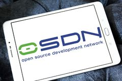 Osdn collaborative development environment logo. Logo of osdn on samsung tablet. is a web-based collaborative development environment for open source software royalty free stock photo