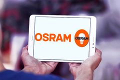 Osram lighting company logo Stock Images