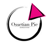 Logo Ossetian Pie Georgian food cuisine or for delivery royalty free stock image