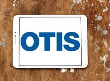 Otis Elevator Company logo. Logo of Otis Elevator Company on samsung tablet. The Otis Elevator Company is an American company that develops, manufactures and stock photo