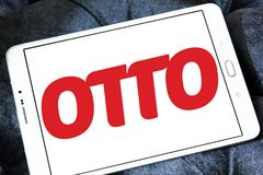 OTTO retailer logo. Logo of OTTO retailer on samsung tablet . OTTO is a broad based retailer that sells its own products alongside those of external brands and Stock Photos