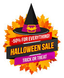 Logo ou label de vente de Halloween illustration libre de droits