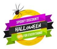 Logo ou label de vente de Halloween illustration de vecteur