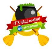 Logo ou label de vente de Halloween illustration stock