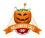 Logo ou label de vente de Halloween Images stock