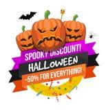 Logo ou label de vente de Halloween Photos stock