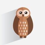 Logo owl flat design Stock Image