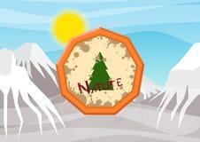 logo på temat av naturen Arkivfoto