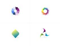 Logo Package abstrait coloré Images stock
