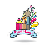 Logo paint Stock Photos