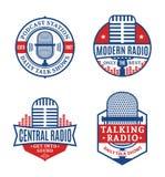 Logo par radio de vecteur illustration stock