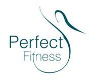 Logo parfait de forme physique Photographie stock libre de droits
