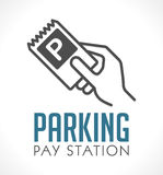 Logo - parkeringstelefonautomat vektor illustrationer