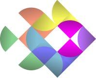 Logo Pattern variopinto astratto, vettore Logo Design fotografia stock libera da diritti