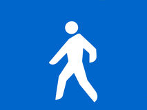 Logo of pedestrian crossing in the underground gar Stock Photos