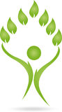 Logo, People, Leaves, Naturopaths Stock Photography