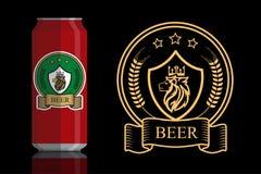 Logo per birra Immagine Stock Libera da Diritti