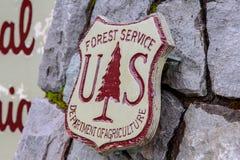 Logo per gli Stati Uniti Forest Service - ministero dell'agricoltura fotografia stock